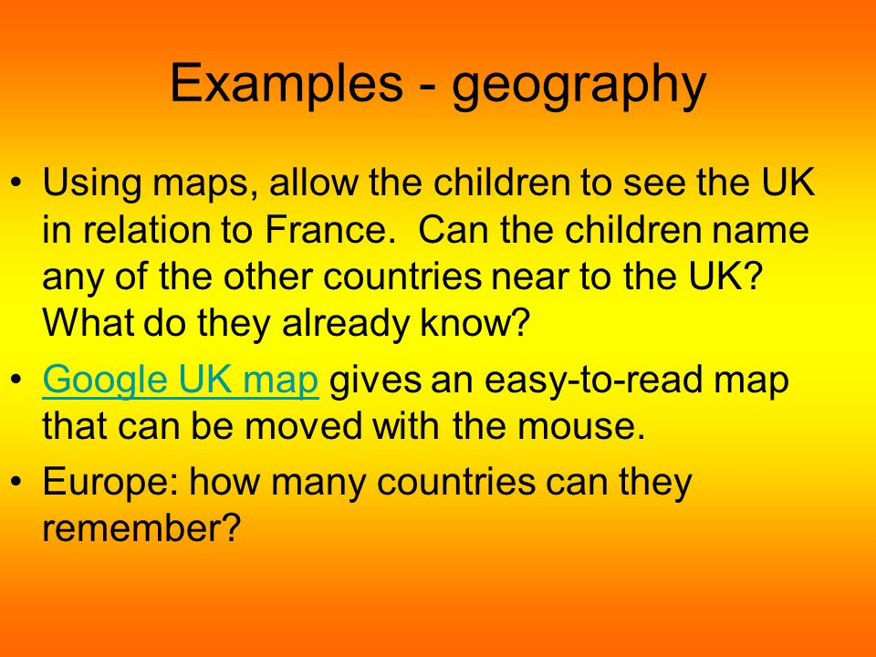 Examples - languages Ask the children what they already know about the languages spoken in our country.