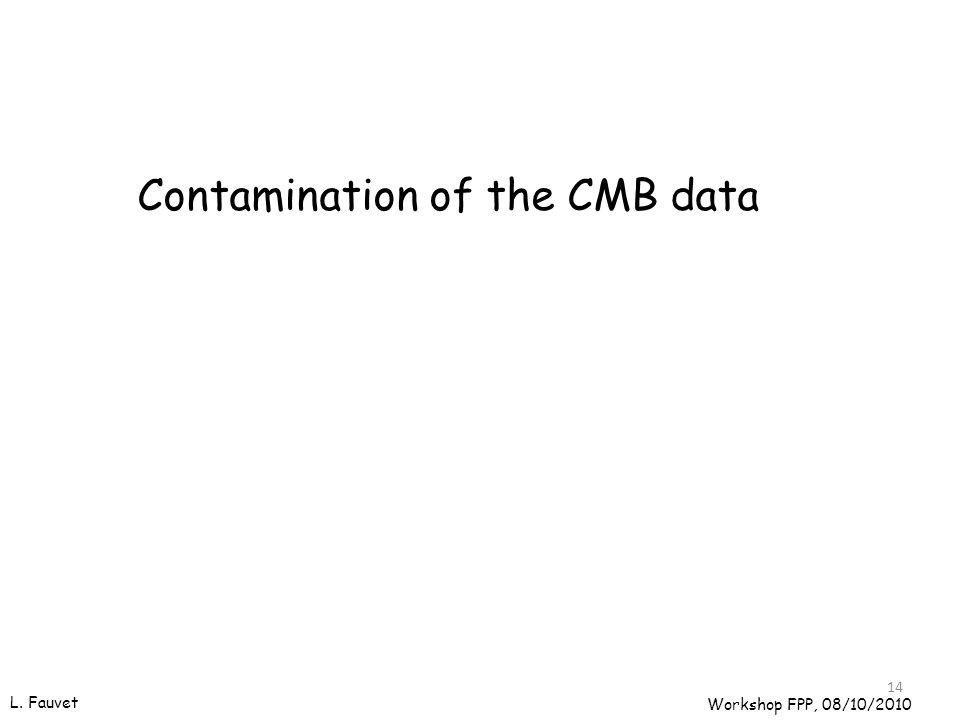 14 Contamination of the CMB data Workshop FPP, 08/10/2010 L. Fauvet