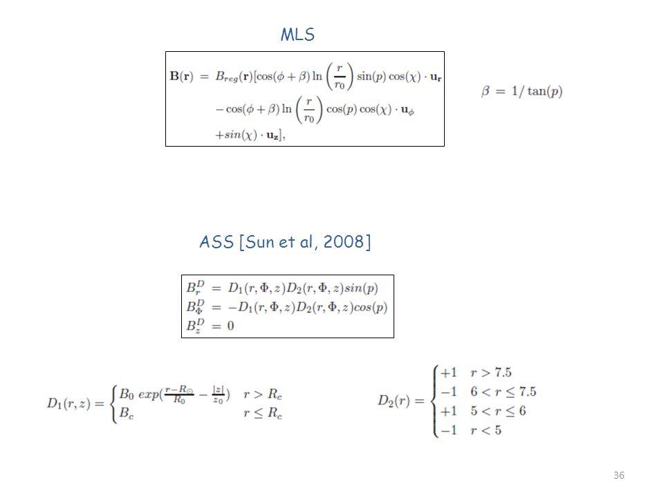 36 MLS ASS [Sun et al, 2008]