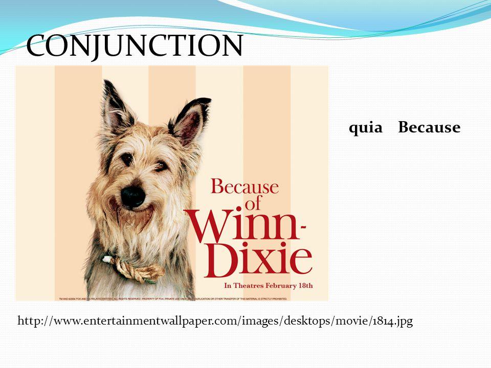 CONJUNCTION http://www.entertainmentwallpaper.com/images/desktops/movie/1814.jpg quiaBecause