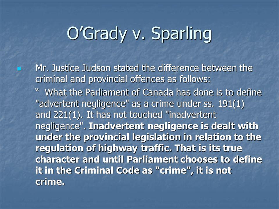 O'Grady v. Sparling Mr.