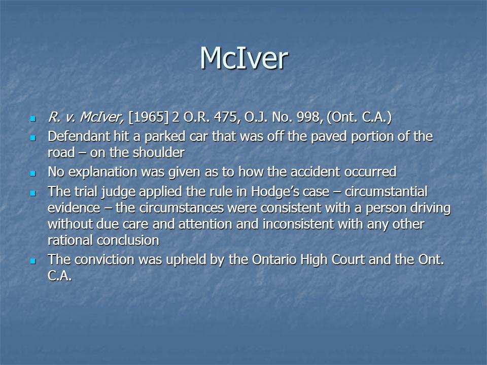 McIver R. v. McIver, [1965] 2 O.R. 475, O.J. No.