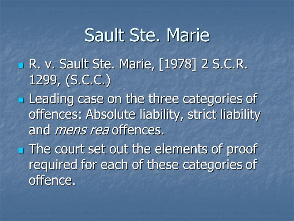 Sault Ste. Marie R. v. Sault Ste. Marie, [1978] 2 S.C.R.
