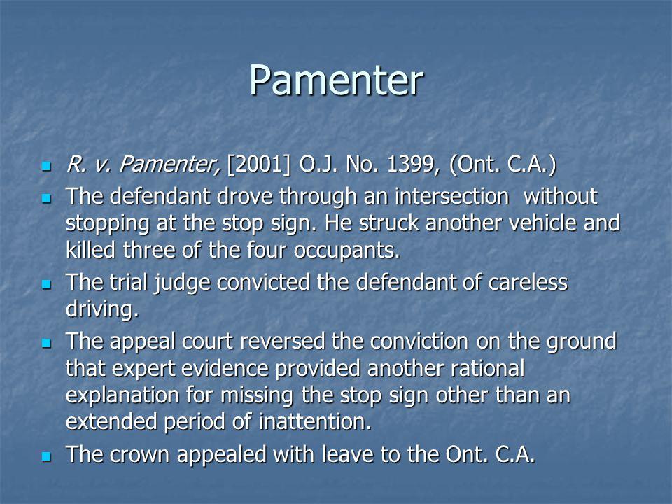 Pamenter R. v. Pamenter, [2001] O.J. No. 1399, (Ont.