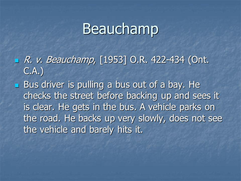 Beauchamp R. v. Beauchamp, [1953] O.R. 422-434 (Ont.