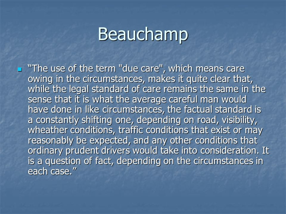 "Beauchamp ""The use of the term"