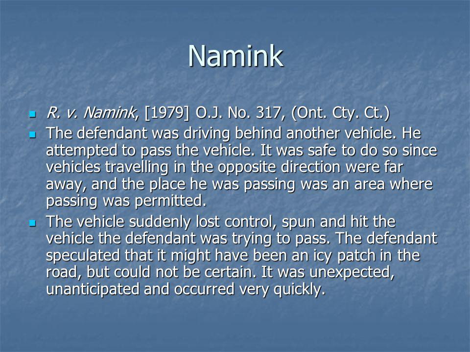 Namink R. v. Namink, [1979] O.J. No. 317, (Ont.