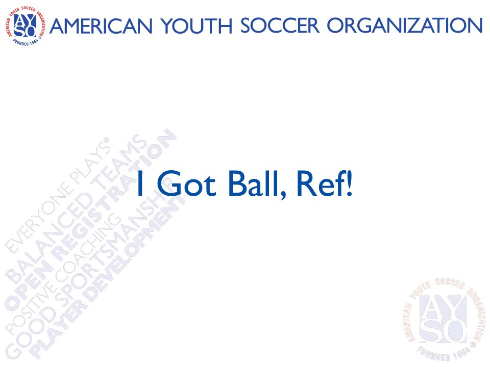 I Got Ball, Ref!