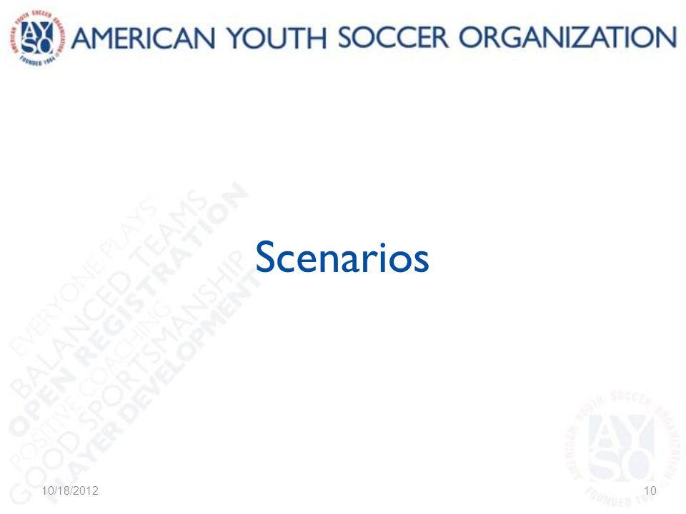 Scenarios 10/18/201210