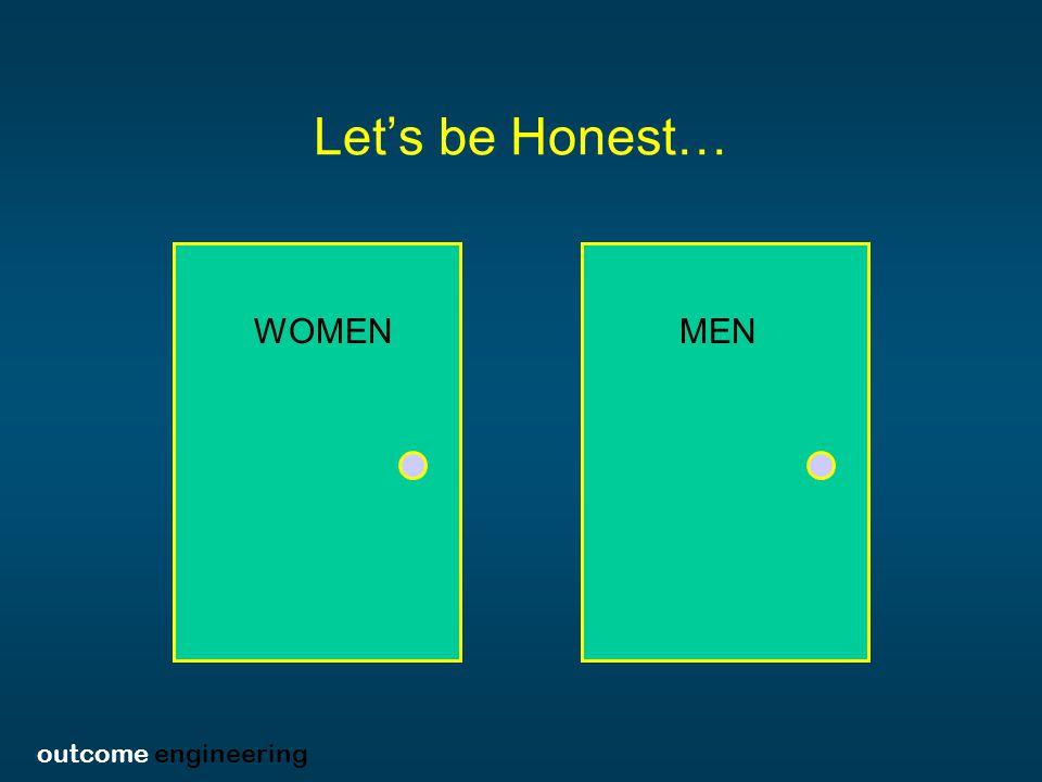 outcome engineering Let's be Honest… MENWOMEN