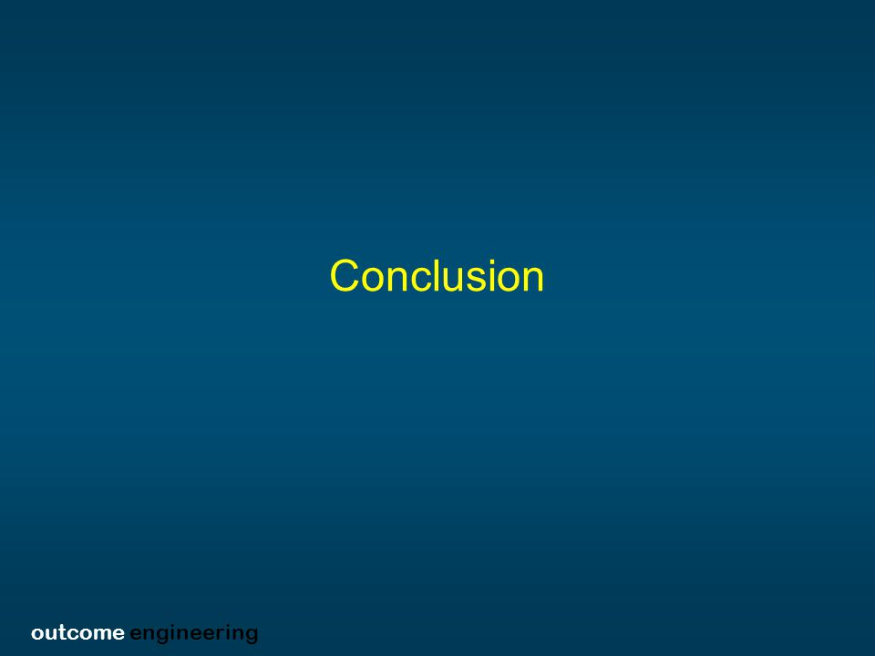outcome engineering Conclusion