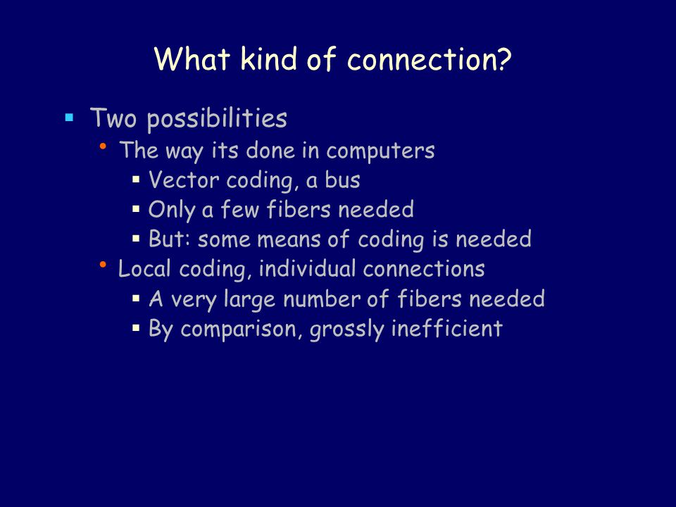 What kind of connection.