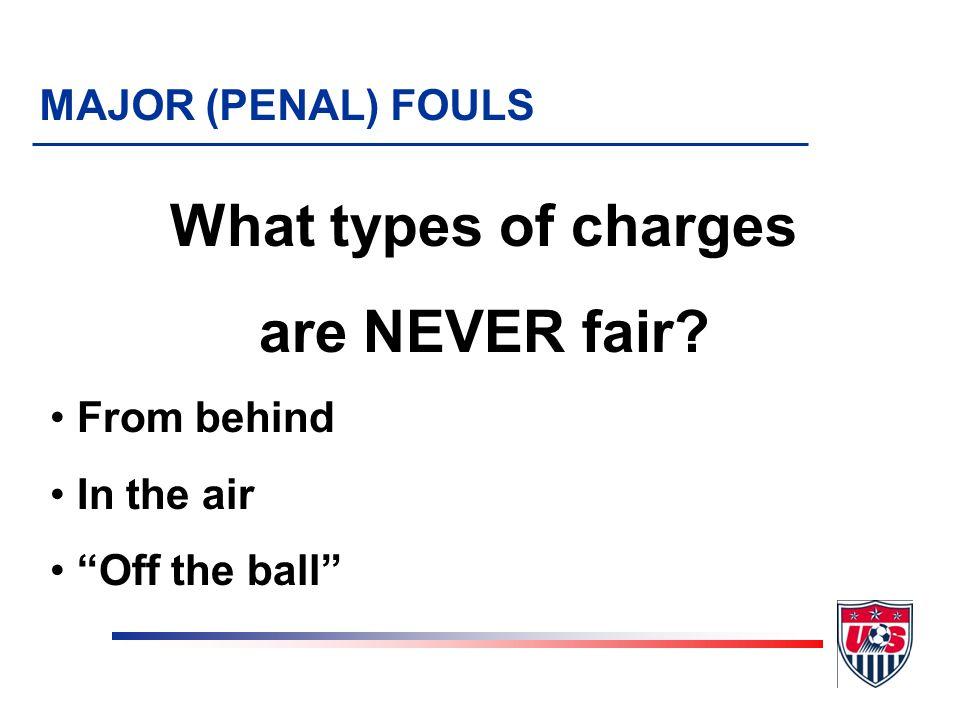 Fair charge.