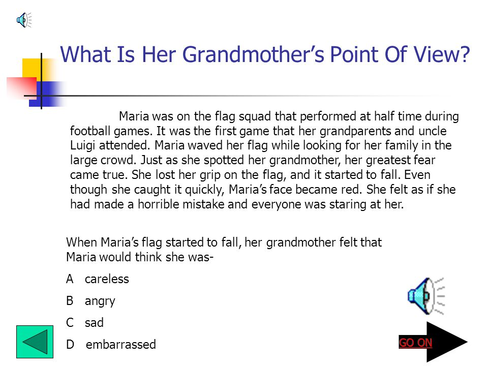 What Is Her Grandmother's Point Of View.