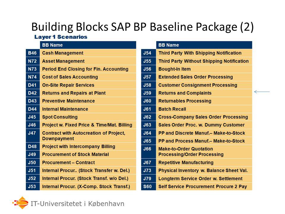 Building Blocks SAP BP Baseline Package (2)