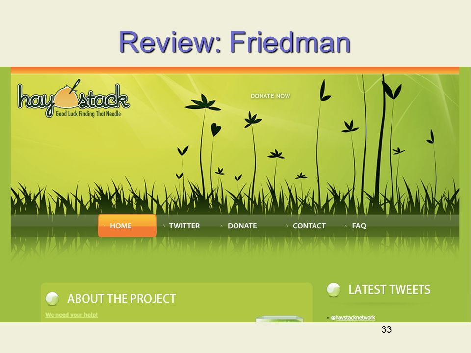 33 Review: Friedman