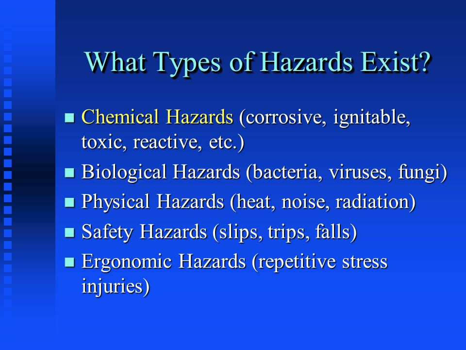 What Types of Hazards Exist.