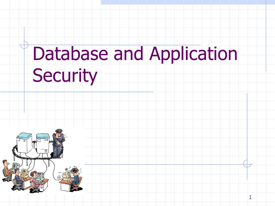 Database and Application Security 1