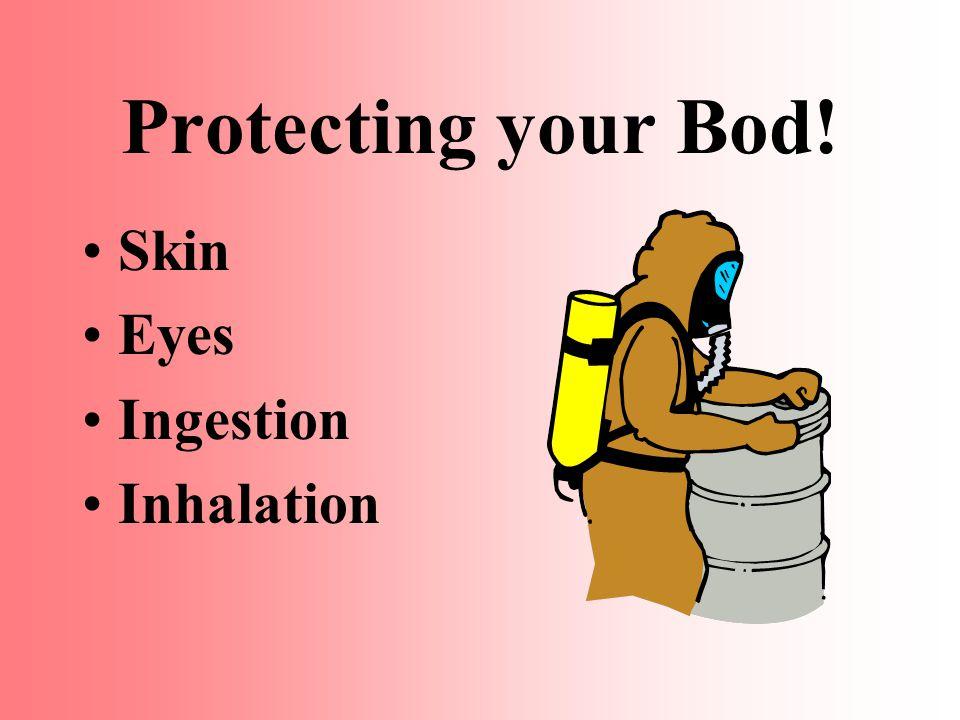 Protecting your Bod! Skin Eyes Ingestion Inhalation