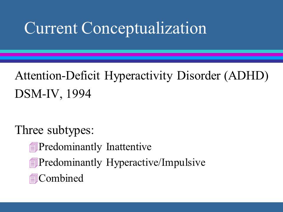 Who Has ADHD? Percent Attentiveness 3-5%