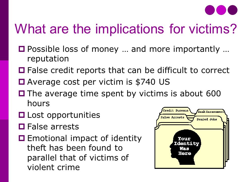 What are the implications for victims.
