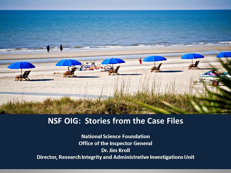 Who is NSF OIG.Office of Investigations Inspector General (IG) Admin.