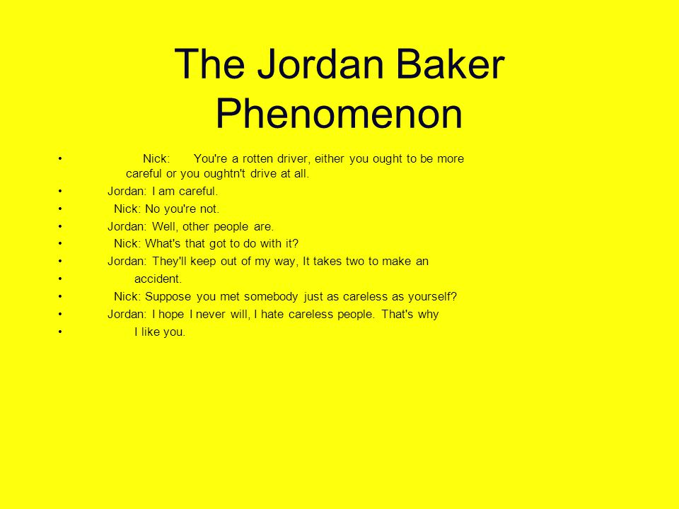 The Jordan Baker Phenomenon The problem is, there are too many careless devices on the network.