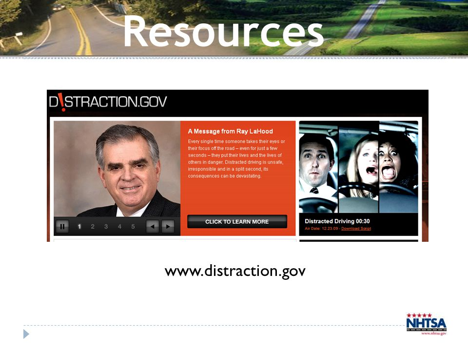Resources www.distraction.gov