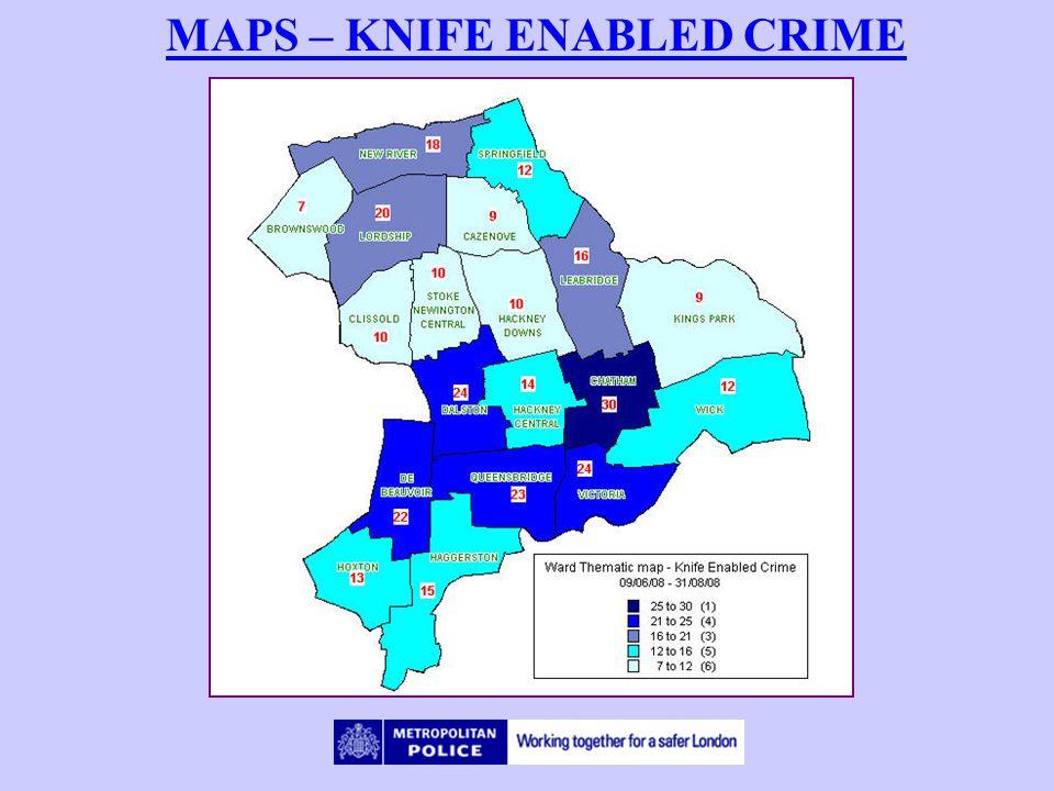 MAPS – KNIFE ENABLED CRIME