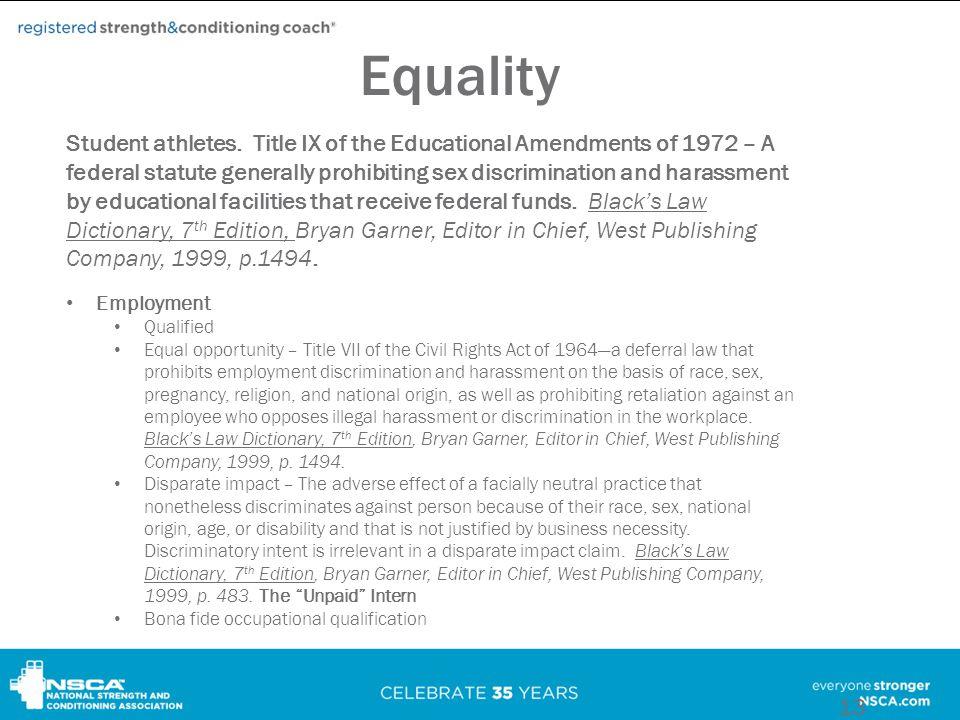 Equality Student athletes.