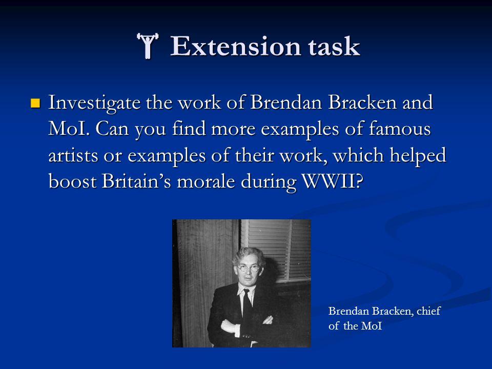  Extension task Investigate the work of Brendan Bracken and MoI.