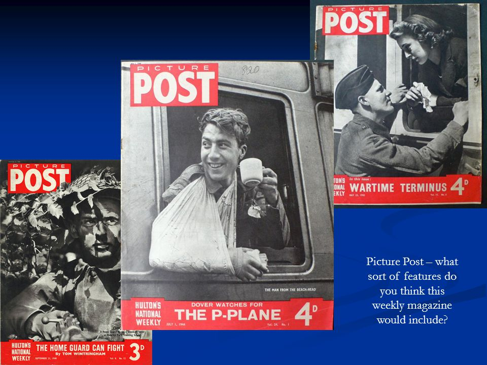 Picture Post – what sort of features do you think this weekly magazine would include?