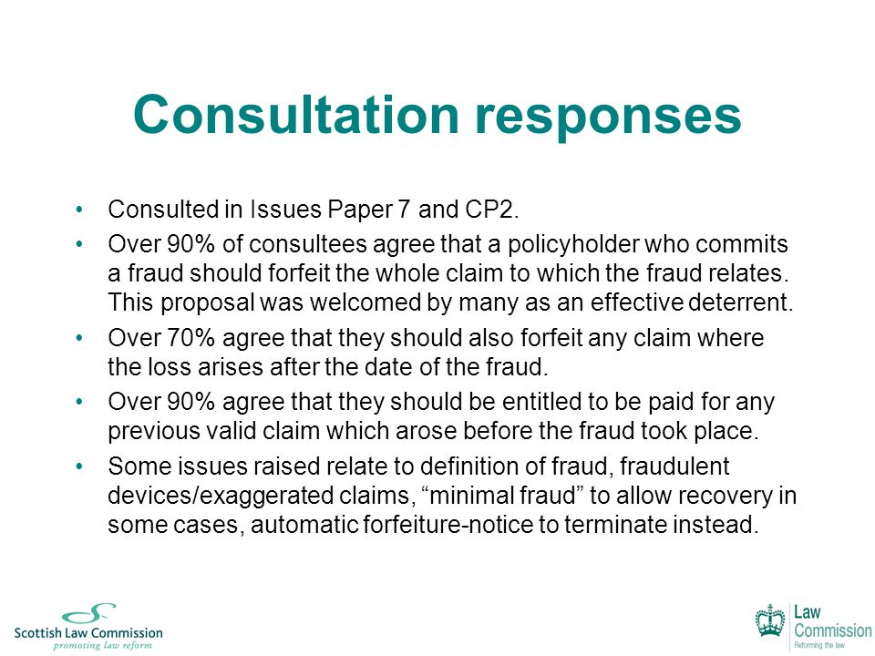 Consultation responses Consulted in Issues Paper 7 and CP2.