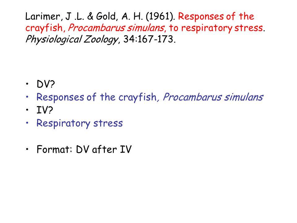 Larimer, J.L. & Gold, A. H. (1961).