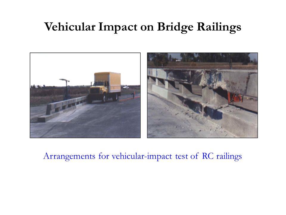 Vehicular Impact on Bridge Railings Arrangements for vehicular-impact test of RC railings
