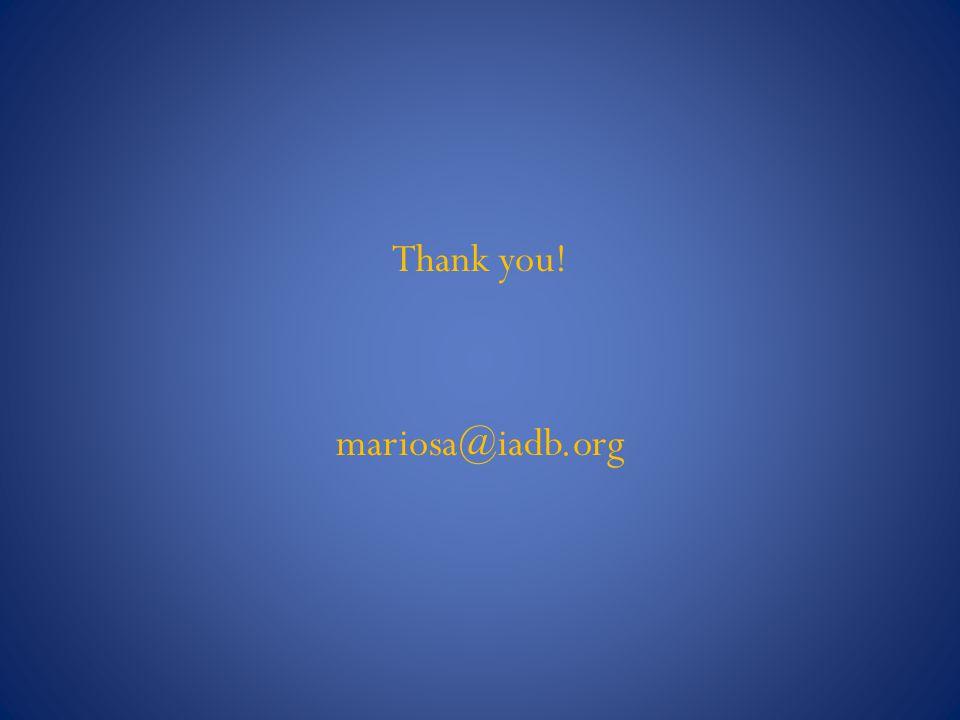 Thank you! mariosa@iadb.org