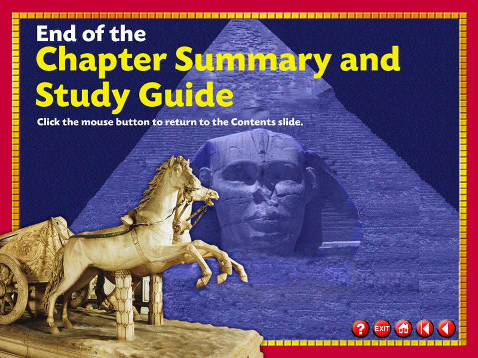 56 Chapter Summary 3 Chapter Summary & Study Guide (cont.) Click the mouse button or press the Space Bar to display the information.