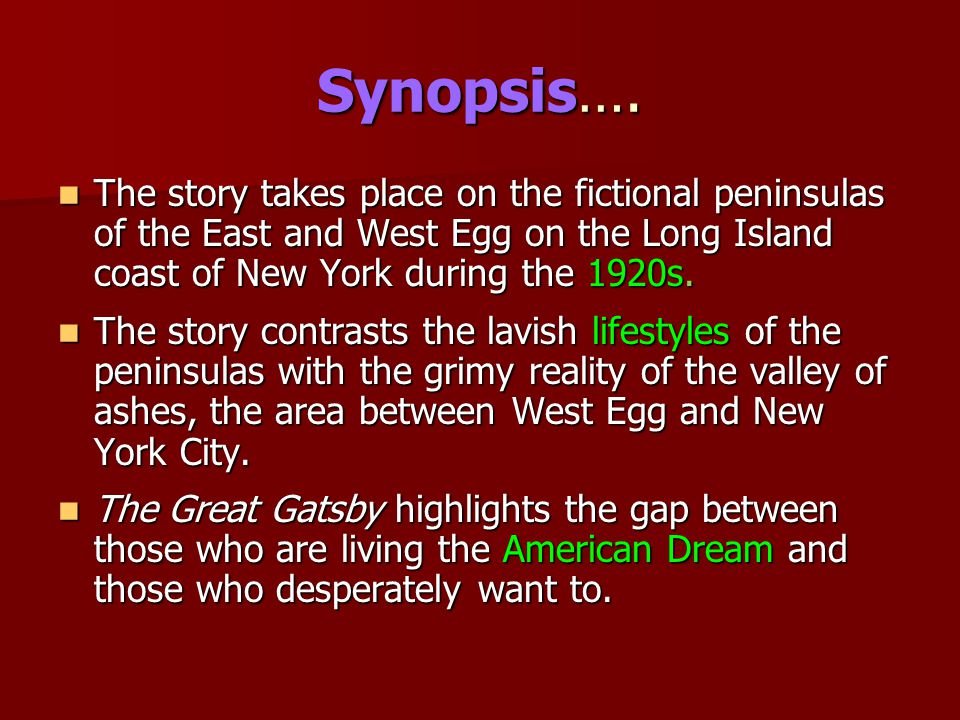 Synopsis….