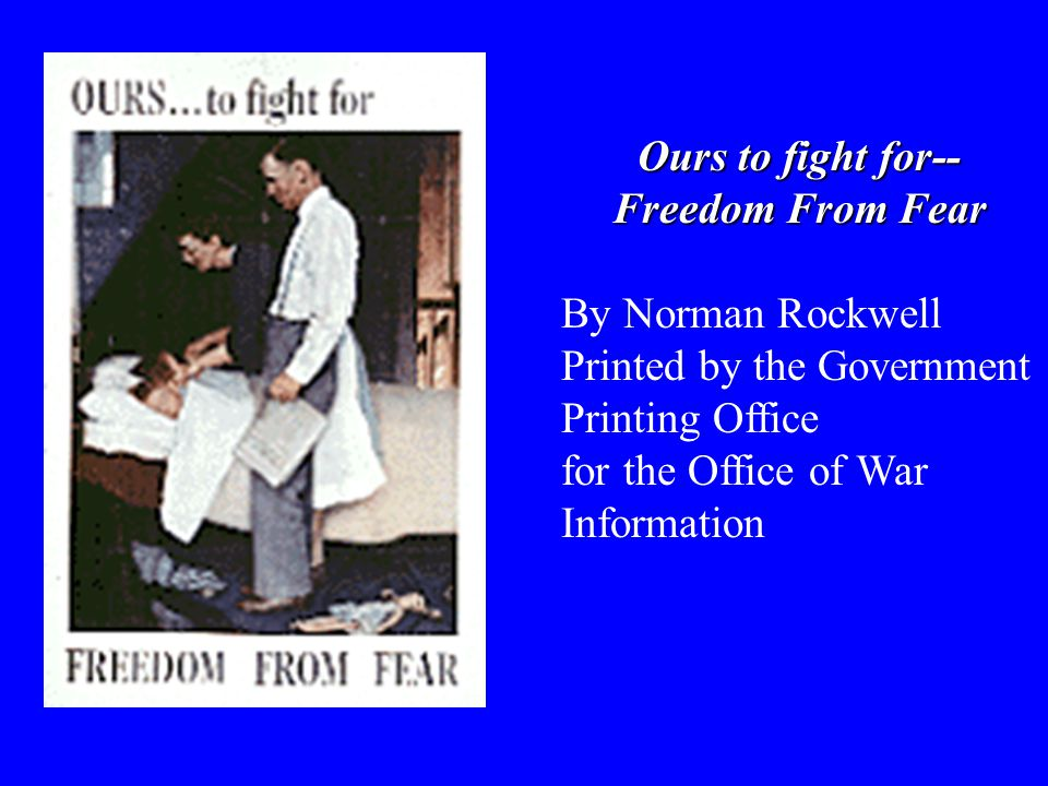 Ours to fight for-- Freedom From Want By Norman Rockwell Printed by the Government Printing Office for the Office of War Information