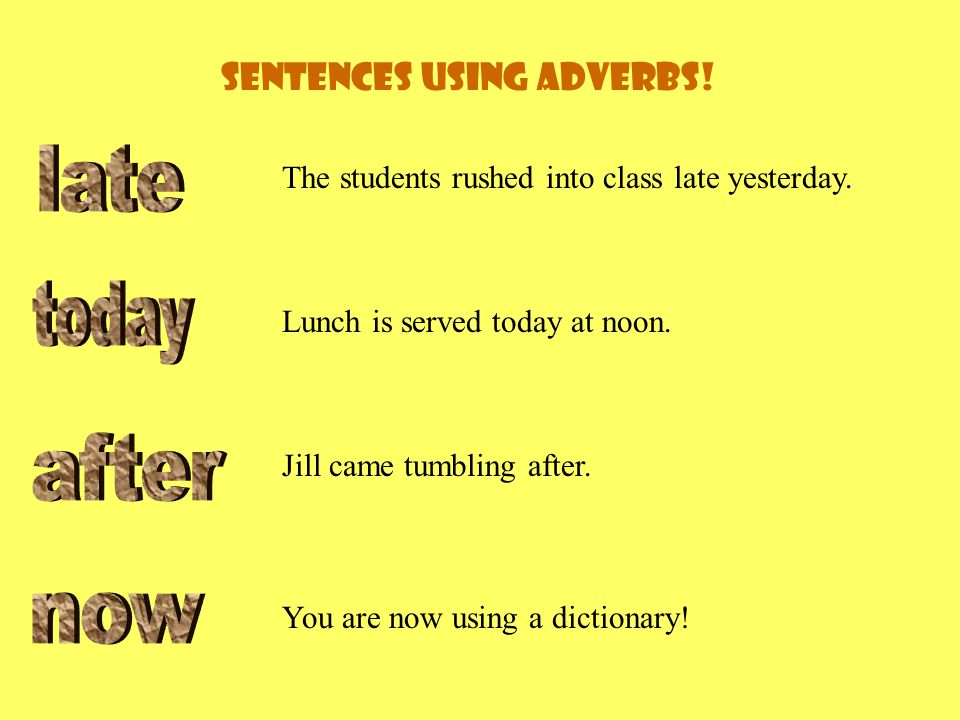 Can you make a sentence using these adverbs Write the sentences on your paper now.