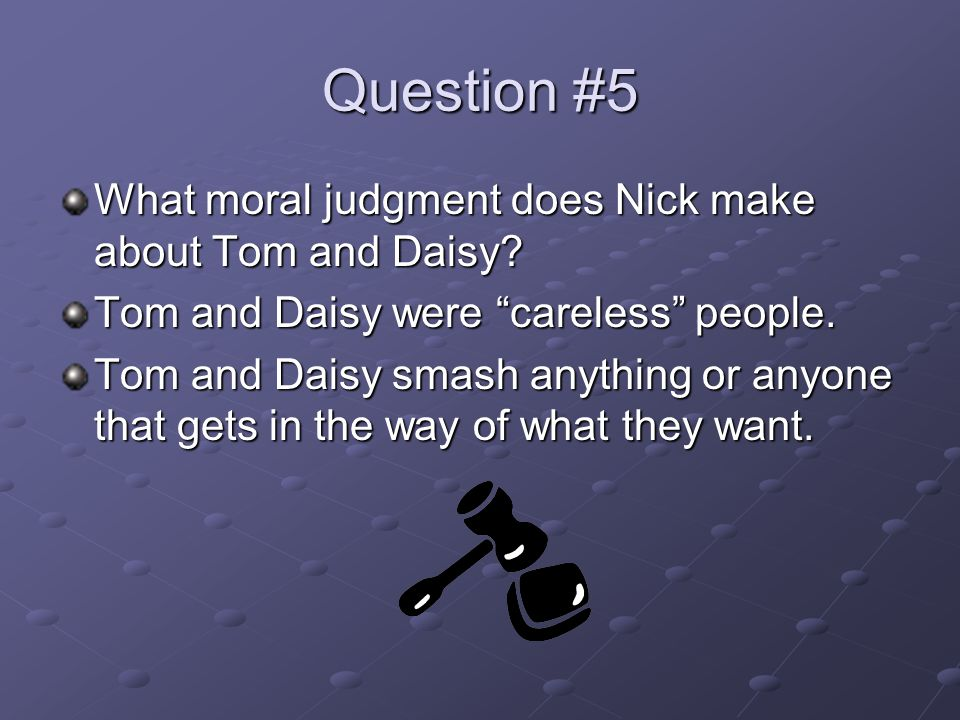 Question #6 Explain the significance of the last page of the novel in relation to Gatsby's dream and the American Dream.