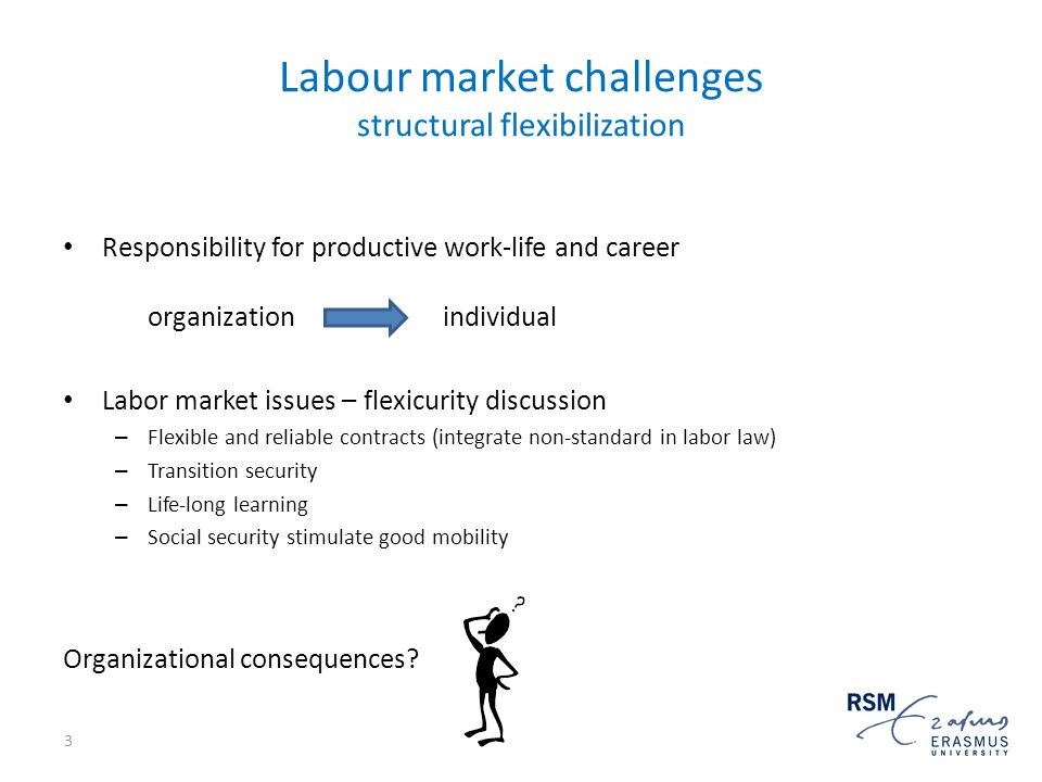 What are challenges for organizations that might trigger them to contribute to sustainable organization of flexibility in the labor market?