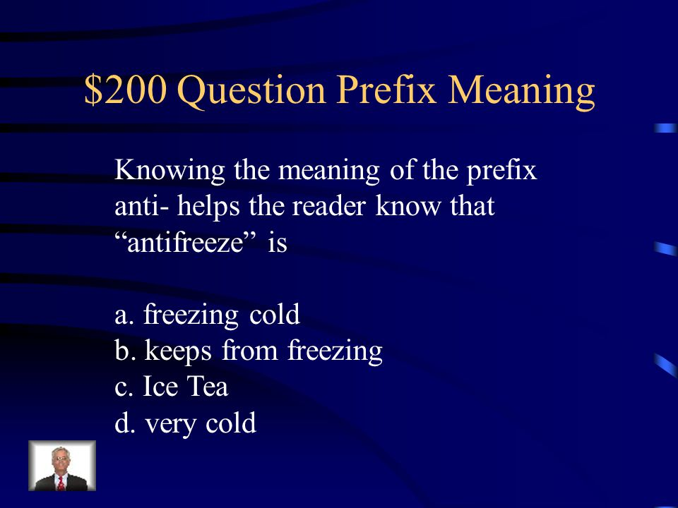 """$100 Answer What is the meaning of the nonreader? """"a person who cannot read"""""""