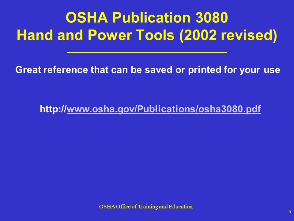 OSHA Office of Training and Education 56 Jacks - Capacity The manufacturer s rated capacity must be marked on all jacks and must not be exceeded All jacks must have a stop indicator (for over-travel) that is not exceeded