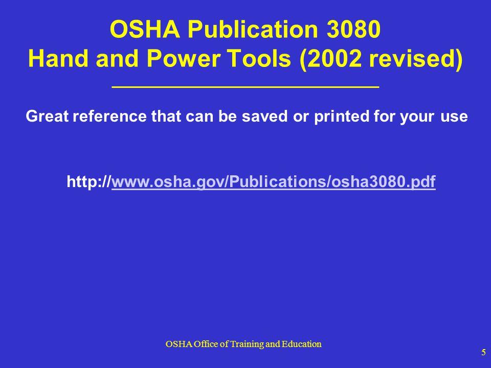 OSHA Office of Training and Education 16