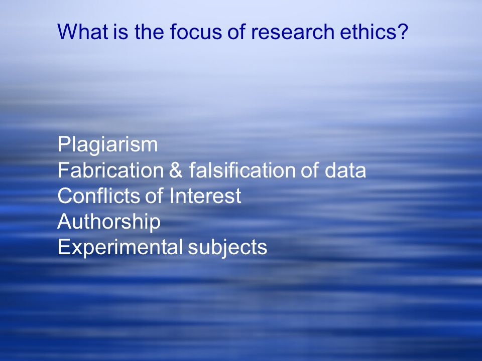 What contributes to ethical problems in research.