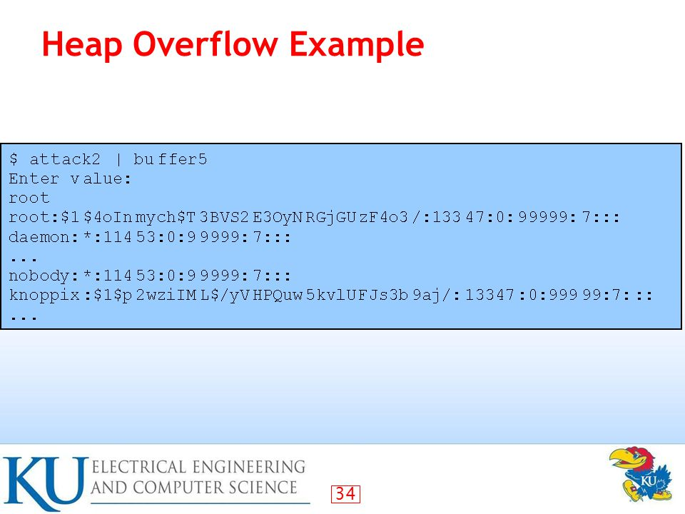 34 Heap Overflow Example