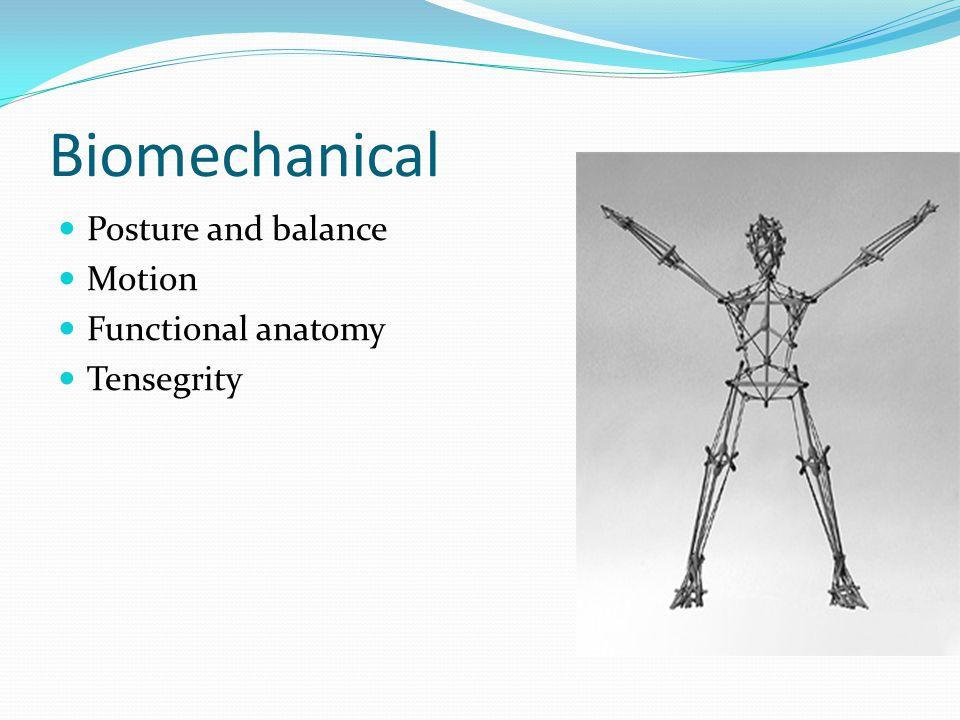 Biomechanical Posture and balance Motion Functional anatomy Tensegrity