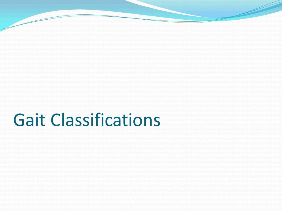 Gait Classifications