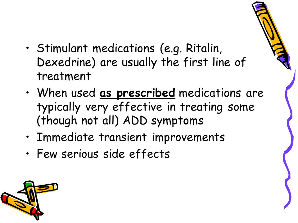 Stimulant medications (e.g.